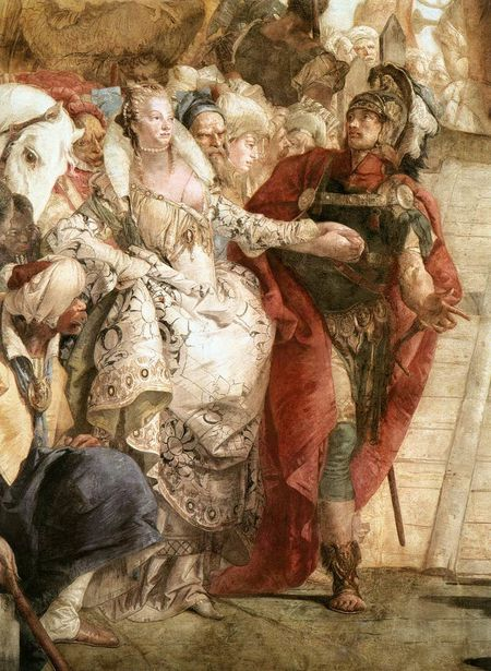 tiepolo - The Meeting of Anthony and Cleopatra (detail). 17