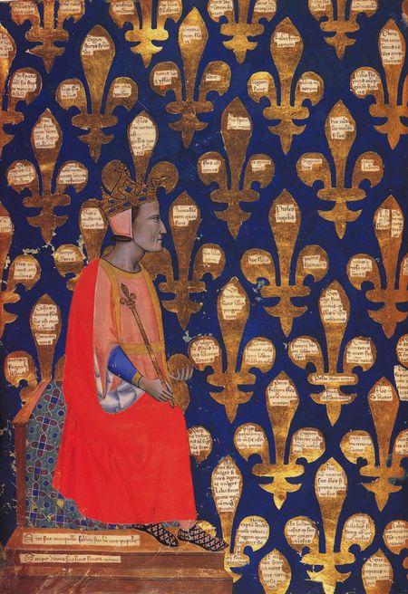 portrait de robert d'anjour roi de naples