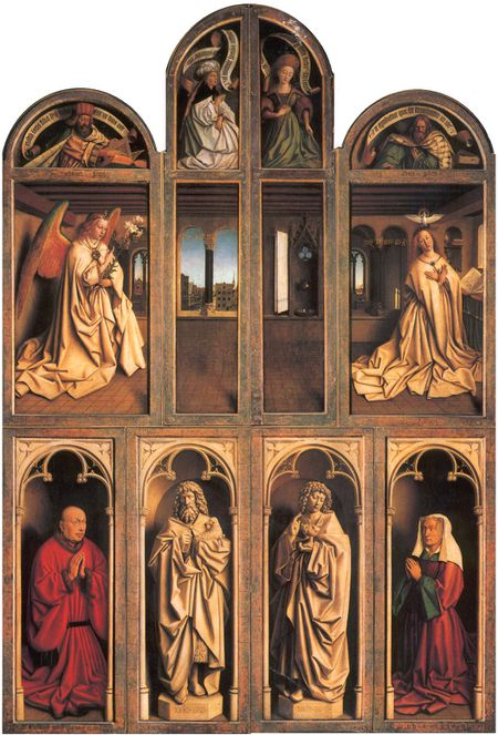 jan van Eyck adoration fermé