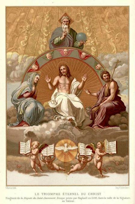 Triomphe éternel du Christ,Raphaël,parousie.over-blog.fr