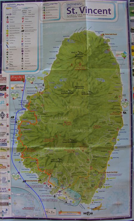 Carte Grenadines St Vincent 1