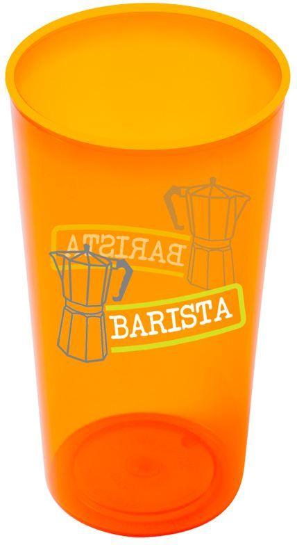 Gobelet RER personnalise en plastique 350ml coloris orange