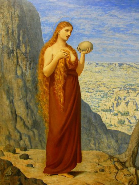Puvis de Chavannes-Mary Magdalene in the Desert%2C1869
