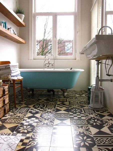Baignoire en couleur a part a - Pinterest salle de bain ...