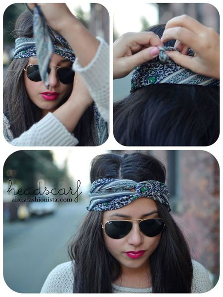 Coiffure foulard cheveux tuto blog coiffure tendance femme - Foulard pour cheveux tendance ...