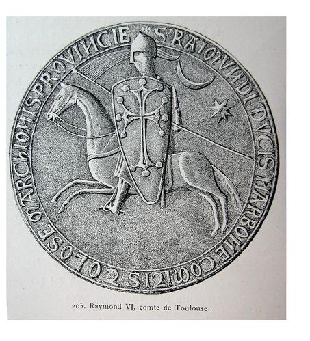 1-Sag-l de Raimond VI. 1207 e 1222. Dessenh de Ros-copie-1