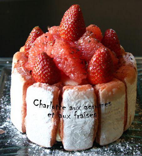 Charlotte agrumes et fraise