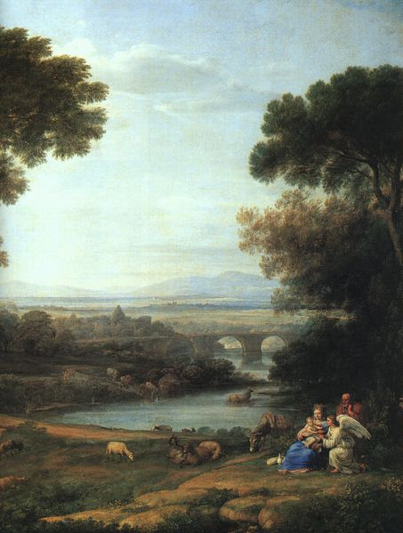 Landscape with the Rest on the Flight into Egypt (detail)