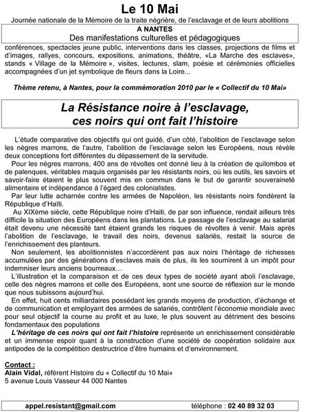 collectif 10 mai resistant