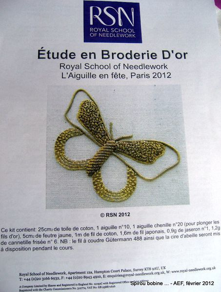 AEF 2012 RSN Broderie d'Or