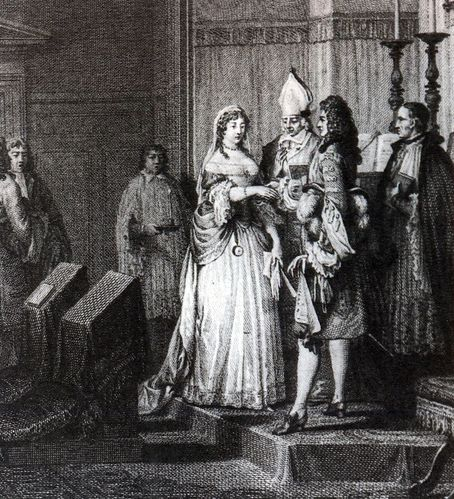 mariage secret: Louis XIV epousant Mme de Maintenon