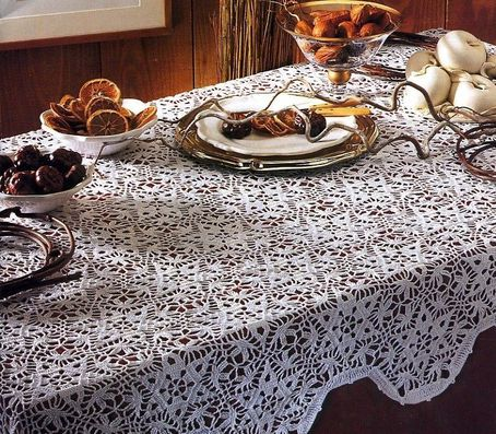 modele de nappe rectangulaire au crochet gratuit ustensiles de cuisine. Black Bedroom Furniture Sets. Home Design Ideas