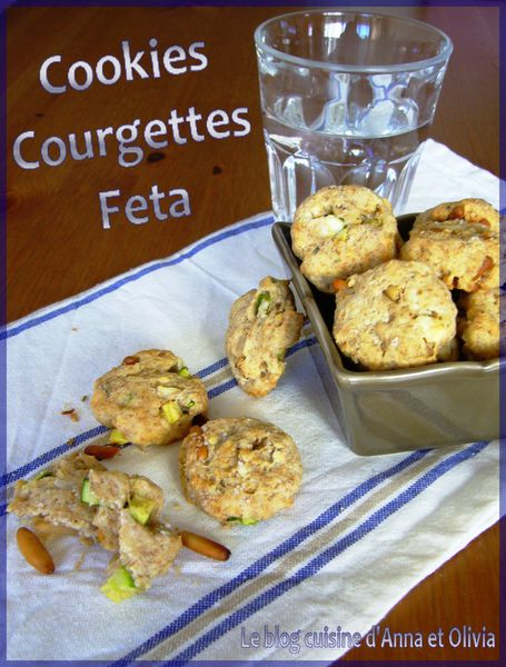 cookies courgettes feta