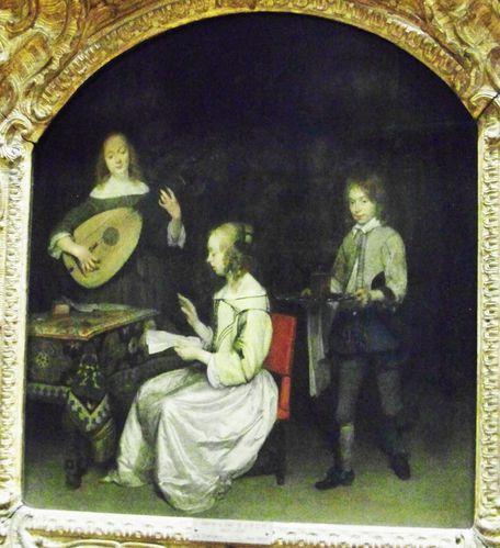 Gerard Ter Borch Le Concert avec joueur de luth théorbé