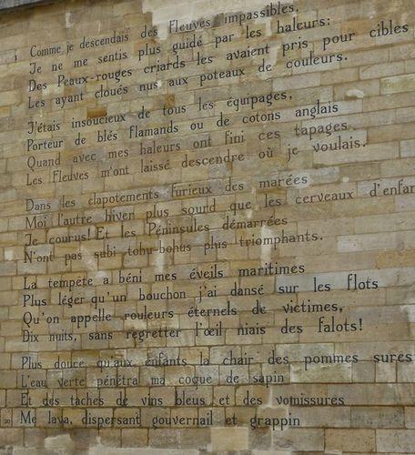 Rimbaud Bateau ivre mur rue Férou 9