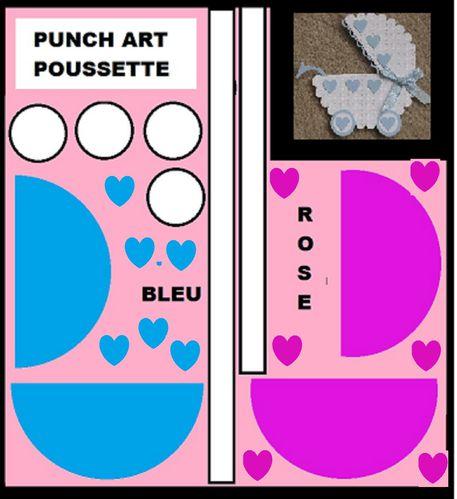 pourssette /ours/chien/dog message/babies/baby/naissance/punch art