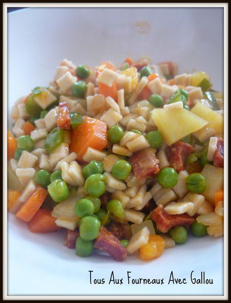 crozets légumes et chorizo 2