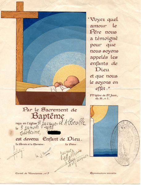 certificat Baptême