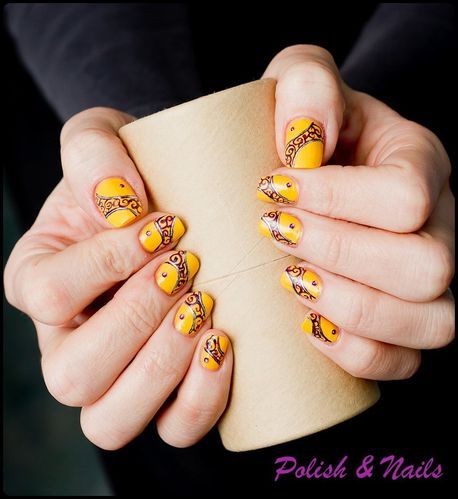 nail art jaune-6423-BorderMaker