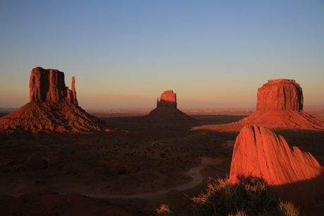 10-Monument Valley during sunset eclipsed 20 May 2012