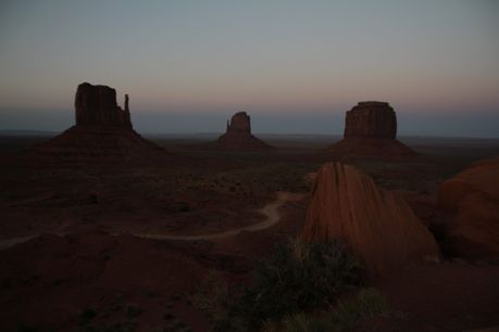 15-Monument Valley after Sunset eclipsed 20 May 2012