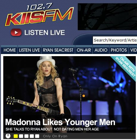 US Radio: Download Madonna's interview with Ryan Seacrest on KIIS FM
