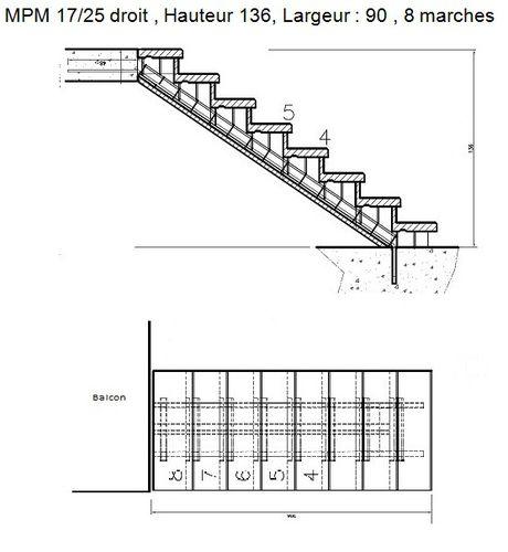 Plan escalier bois exterieur