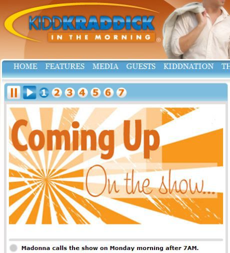 US Radio: Interview with Madonna on ''Kidd Kraddick in the Morning'' on Oct. 05, 2009