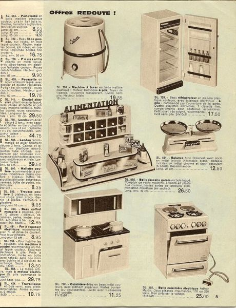 catalogue de jouets la redoute de 1961 le blog de genyanddolls. Black Bedroom Furniture Sets. Home Design Ideas