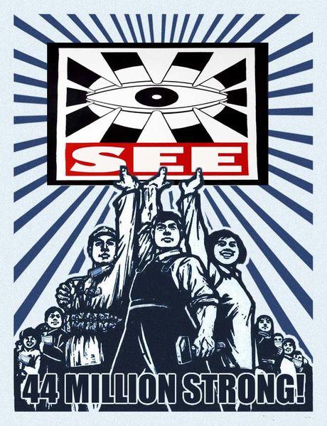 oeil affiche propagande