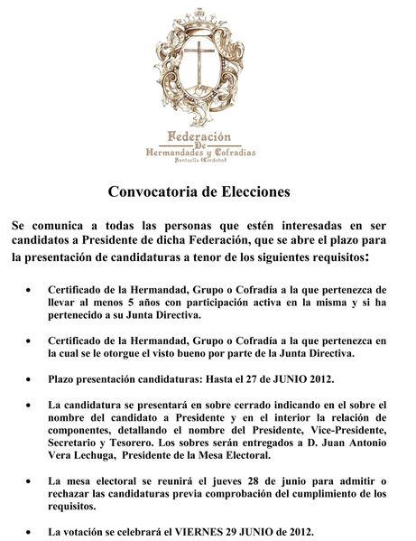 cartel candidaturas 2012