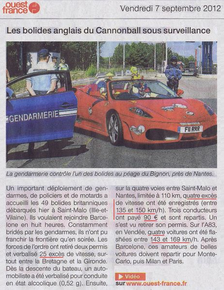 Cannonball 2000- 7 septembre 2012 OF 2