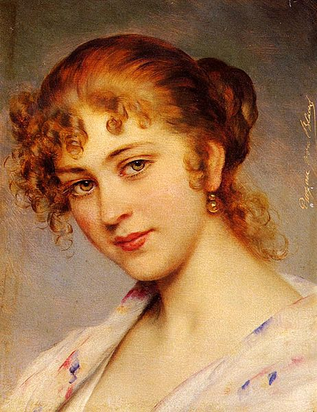 462px-Eugene von Blaas - Portrait Of A Young Lady