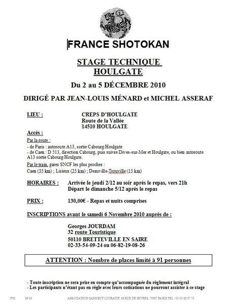 affiche stage Houlgate