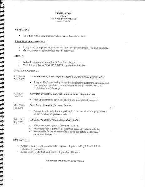 resume format  mod u00e8les de cv en anglais gratuit