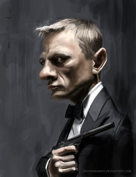 daniel craig as james bond by devonneamos-d5irvva