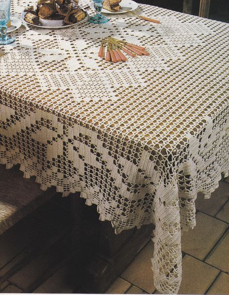 Bien connu crochet nappe carree et rectangle - Le blog de crochet et tricot d  MK34