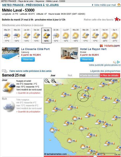 météo 25 mai laval