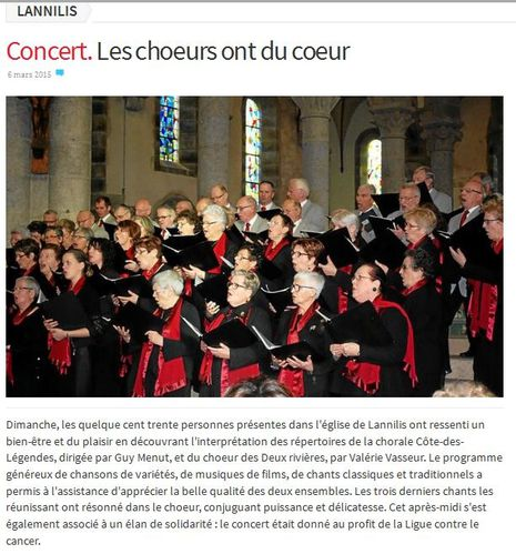 LE TELEGRAMME ARTICLE du 6 mars 2015