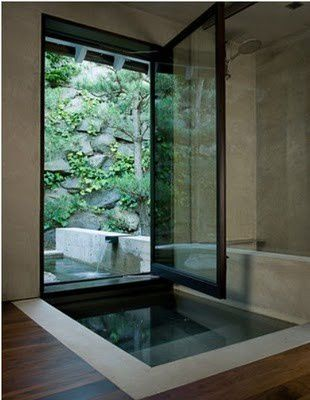 Salles de bain originales le blog de adeline for Indoor outdoor bathroom design ideas