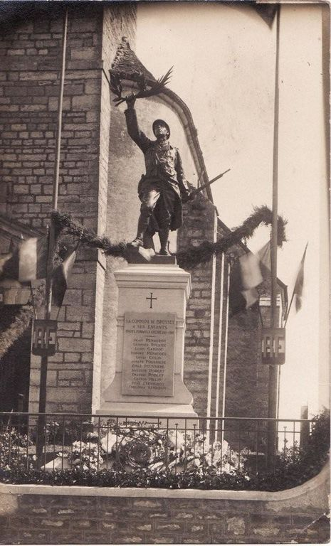 INAUGURATION MONUMENTS AUX MORTS 17 09 1922