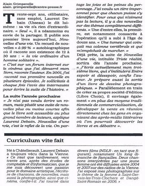 Centre Presse article du 1 août 2009 bis2
