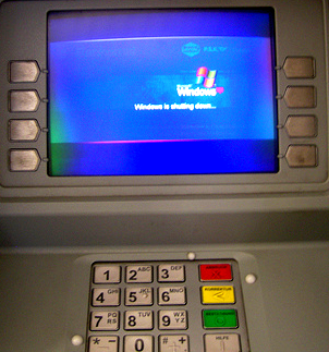 distributeurs de billet sous windows-xp
