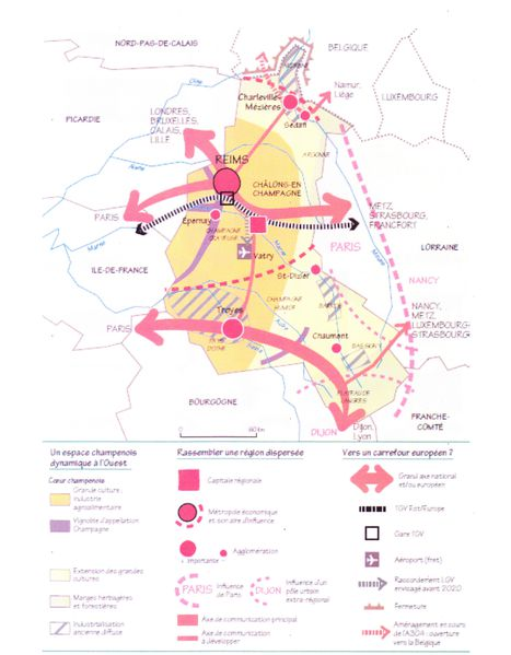 Carte organisation régionale Champagne Ardenne
