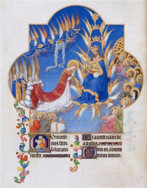 Les heures de la Vierge, début de complies
