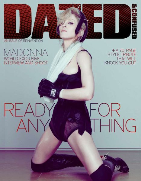 dazed &amp; confused magazine 2008 madonna scrapbook pud 00