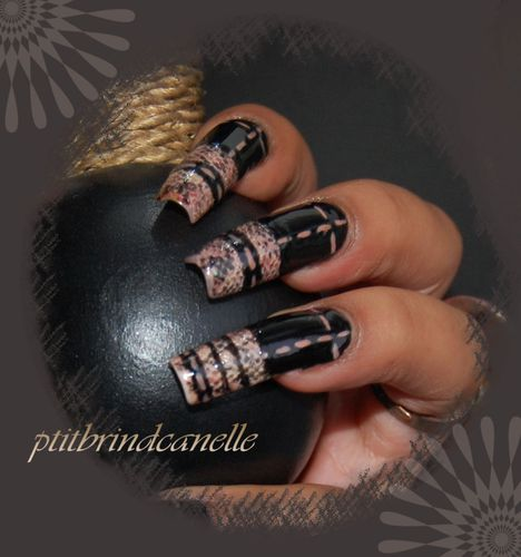 nail art peau de serpent (4)