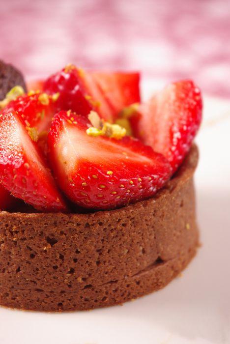 Tarte au chocolat et fraises 7