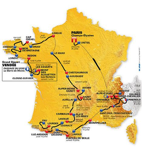 Parcours officiel du Tour de France 2011