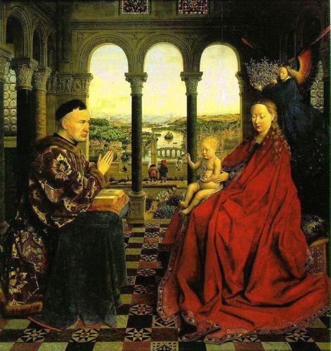Van Eyck La Vierge au chancelier Rolin
